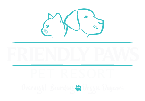 Friendly Paws Pet Resort Retina Logo