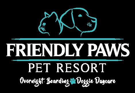 Friendly Paws Pet Resort Retina Logo